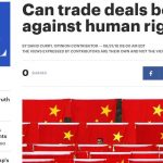 Can trade deals be used to fight against human rights violations?