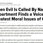 When Evil Is Called By Name …